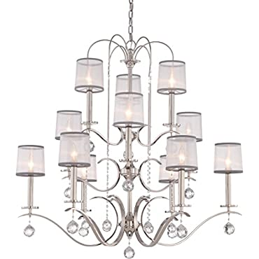 Quoizel WHI5012IS Whitney 12-Light Foyer Piece, Imperial Silver