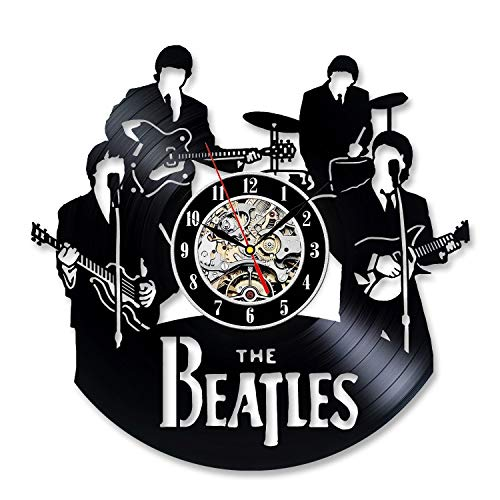Kovides Retro Vinyl Record Clock Vintage Wall Clock Beatles Gift Birthday Gift Idea for Fan Decorations for Party The Beatles Wall Clock Large Beatles Music LP Clock Beatles Rock Band Music Art]()