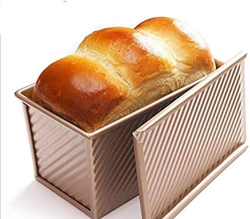 Moligh doll Bread Toast Non Stick Aluminized Rose Gold Metal 19.5x10.3x11.3cm