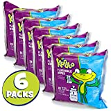 Flushable Wet Wipes for Kids by Kandoo, Hypoallergenic Potty Training Cleansing Cloths for Sensitive Skin, Unscented, Includes 2 Refill Packs of 50 Wipes, Pack of 6