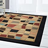Home Dynamix Catalina 4470-450 Black 5-Feet 3-Inch by 7-Feet 2-Inch Contemporary Area Rug