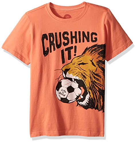 Life is Good Boy's Crusher Crushing It Soccer, Fresh Coral, (Soccer Crusher)