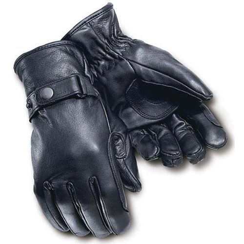 Tour Master Custom Midweight Mens Leather Cruiser Motorcycle Gloves - Black / X-Large