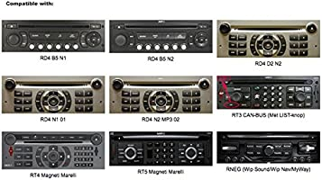 Yatour bta-rd4/Adaptateur Bluetooth Kit mains libres avec microphone pour citroen//peugeot
