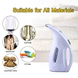 [Newest Version] Portable Garment Steamer Trouser Pressers Travel Clothe Wrinkle Shooter Handheld Clothing Steamer Fabric Steamer Fast Heat-up Ironing 180ml for All Materials for Home and Travel White