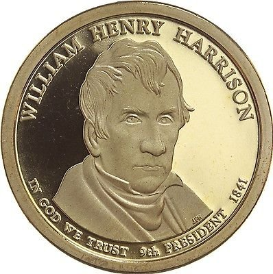 2009 S William Henry Harrison Presidential Dollar Proof GEM (Harrison Presidential Dollar Coin)