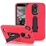 lg 3 bumper - LG Stylo 3 Case,Hybrid Heavy Duty Shockproof 3 in 1 design[Hard Plastic+Soft Silicone]Armor Defender Full-body Protective Case Cover with Kickstand for LG Stylo 3/Stylo 3 Plus/Stylus 3. (Red+Black)