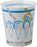 TIDI Products 9220 Waxed Paper Patient Cups, Tooth Print, TIDI Tooth, 5 oz. (Pack of 1000)