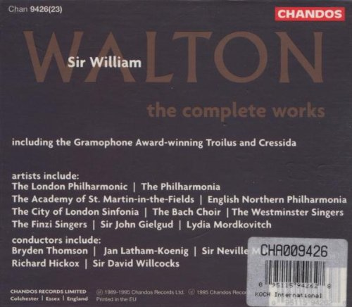 Walton: The Complete Works by Chandos