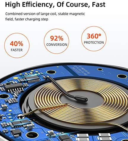 10Wのワイヤレス充電器パッド、チー認定高速充電ステーション、互換性のあるiPhone 11 / 11pro / 11pro最大/ X/XS/XR/のX最大/ 8月8日プラス/ギャラクシーS10 / S10プラス/注9 / S9