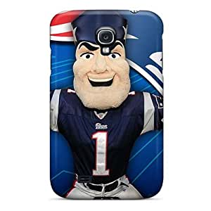 Shock Absorption Hard Phone Case For Samsung Galaxy S4 With Allow Personal Design Fashion New England Patriots Pattern TrevorBahri