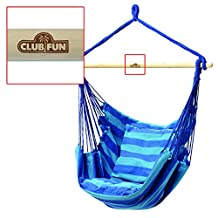 Blue Hanging Rope Chair Porch Swing Seat Patio Camping Max. 265 lbs