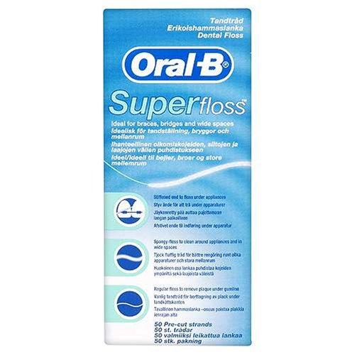 Oral B SuperFloss Super Dental Floss for Braces Br…