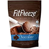 FitFreeze FITera Nutrition High Protein Ice Cream Mix – Delicious & Nutritious Protein Energy Snack – Keto and Gluten Free | High in Fiber | Low in Fat | 15 Servings per Pack (Chocolate) …