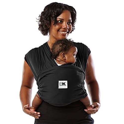 Baby K'tan ORIGINAL Baby Carrier, Black Stretch Cotton (XS) by Baby K'tan (Image #3)