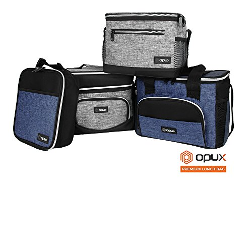 OPUX Premium Thermal Insulated Mini Lunch Bag | School Lunch Box For Boys, Girls, Kids, Adults | Soft Leakproof Liner | Compact Lunch Pail for Office (Heather Gray) by OPUX (Image #7)