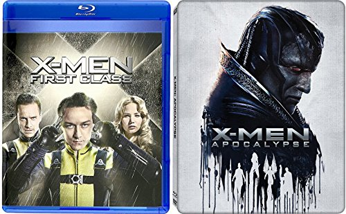 X-Men Apocalypse Exclusive Steelbook & X-Men First Class Blu Ray Marvel Hero Movie Set