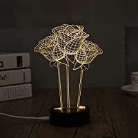 3D Desk Lamps Night Lights ROSE By lanmz
