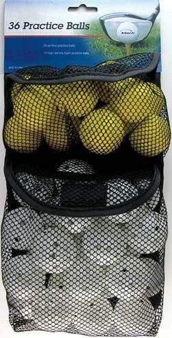 INTECH Foam Practice Balls Holes & Foam, 36 Count