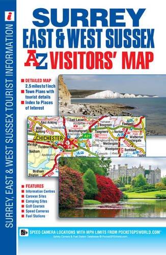 Surrey East & West Sussex Visitors Map (A-Z Visitors Map) pdf epub