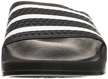 Adidas Originals Men's Adilette Slide Sandal,blackwhiteblack,7 M Us 3