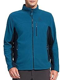 Men's Stand Collar Windproof Full-Zip Fleece Jacket