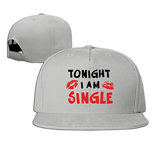 hmkolo-tonight-i-am-single-cotton-flat-bill-baseball-cap-snapback-hat-unisex