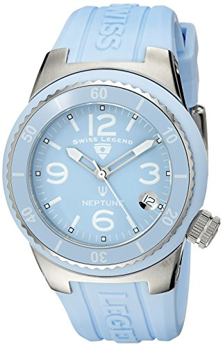 Swiss Legend Women's 11840P-012 Neptune Baby Blue Dial Baby Blue Silicone Watch