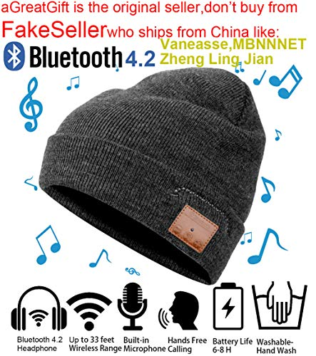 ce37c9a7b0e Christmas Tech Gift Bluetooth Beanie Winter Hat Running Headphones Wireless  Musical Knit Cap with Stereo Headsets