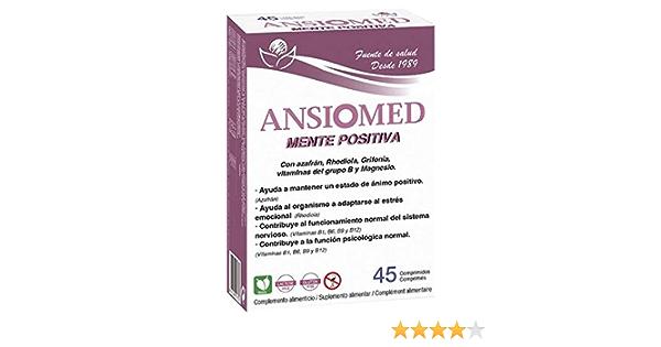 Ansiomed Mente Psoitiva 45 Comprimidos de Bioserum - Estado de Ánimo y Ansiedad.: Amazon.es: Salud y cuidado personal