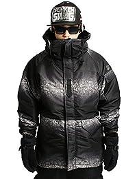 Mens SOUTH PLAY Waterproof Ski SnowBoard Wear Jacket Jumper HIEROGLYPHIC