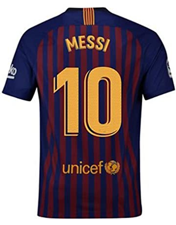 5863aaa12ef 2018-2019 New Season Barcelona  10 Messi Home Mens Soccer Jersey Color Red
