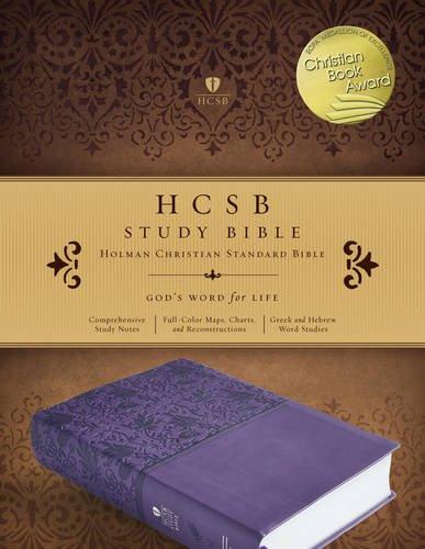 HCSB Study Bible, Purple LeatherTouch