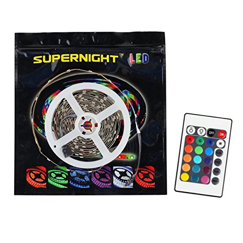 SUPERNIGHT SMD5050 150LEDs Swimming Pool Outdoor IP68 WaterProof Underwater Aquarium LED Tape RGB Color Changing Submersible LED Strip Light DC 12V with 24 Keys IR Remote Control