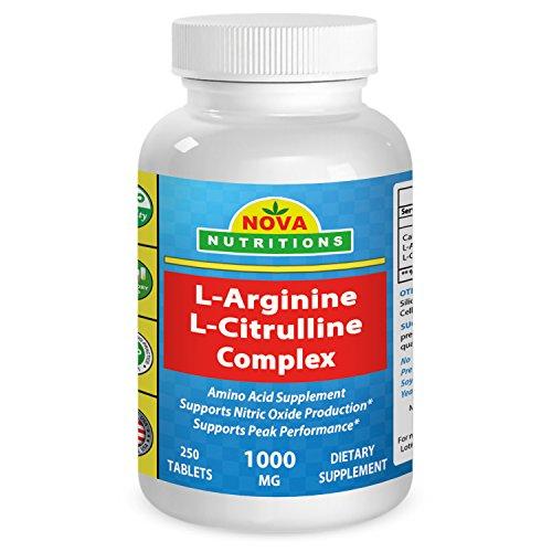 Nova Nutritions L Arginine L Citrulline Complex 1000 mg ...
