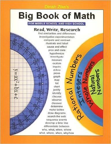 Big Book of Math (MIddle School & High School): Dinah Zike