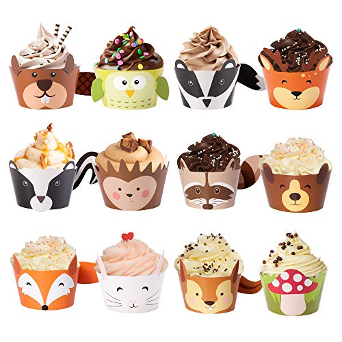 Woodland Shower Cupcake Wrappers Creatures