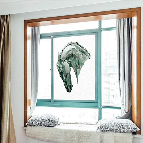 YOLIYANA Modern Glass Window Film No Glue Privacy Window Cling 3D Sculptures Decor Glass Stickers for Bathroom 24