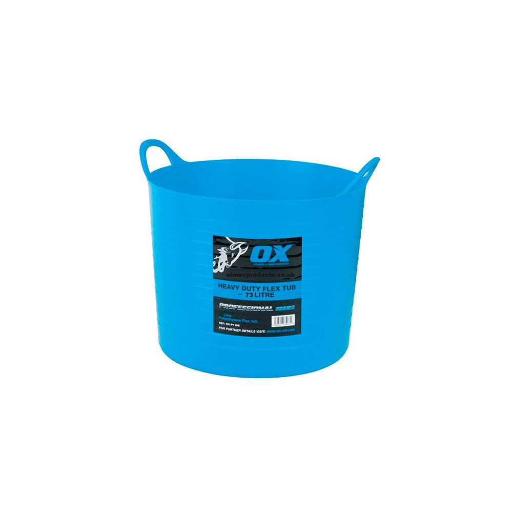OX P110620 Pro Heavy Duty Flexi Tub 20 Litre Blue