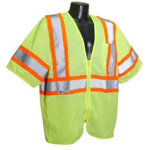 Radians SV22-3ZGM-2X Polyester Mesh Economy Class-3 Safety Vests with Two Tone Trim, 2X-Large, Green by Radians