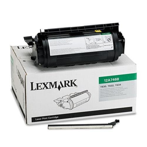 - Lexmark 12A7468 High-Yield Toner, 21000 Page-Yield, Black by Lexmark