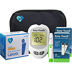 Easy Touch Diabetes Testing Kit - Easy Touch Meter, Easy Touch Blood Glucose Test Strips, OWell Lancets 30g, Easy Touch Lancing Device, Owner's Manual & Carry Case (100)