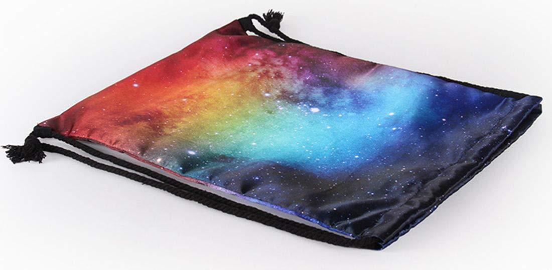 Lightweight Galaxy Drawstring Swimming Bag Sport Gym Sack Bag Backpack for Women Girls School Travel (Blue1)