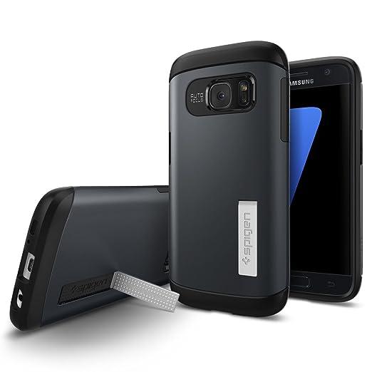77 opinioni per Cover Galaxy S7, Spigen [Protezione Dual-Layer] Slim Armor [Metal Slate]