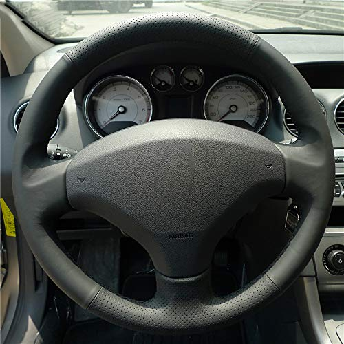 FANGPAN Leather Steering Wheel Cover,for Peugeot 408 /,for Peugeot 308: Sports & Outdoors