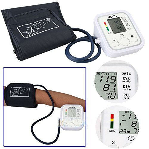 Automatic Digital LCD Arm Cuff Blood Pressure Pulse Monitor Sphgmomanometer from Generic