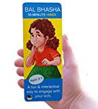 Hindi Book for Children | BalBhasha: 10-Minute Hindi | Set of Flashcards for Kids | A Fun Way to Learn Language, Math, and Indian Culture