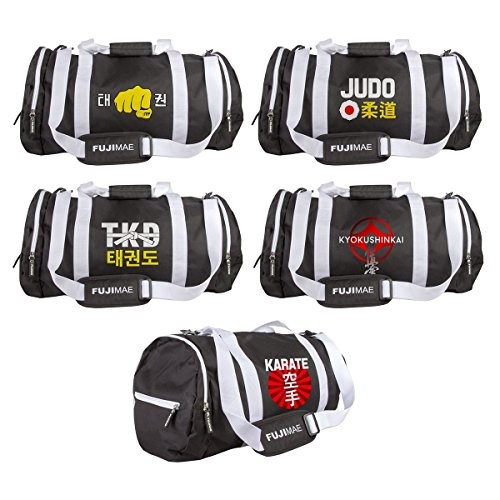 FujiMae–Tasche DEPORTE Tubular. Schwarz. 60x 30x 30. Taekwondo