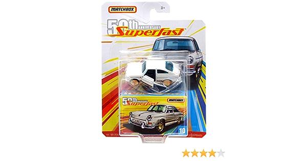 Matchbox 2019 Superfast 50th Moving parts VW 1600 Weiss Goldene Felgen