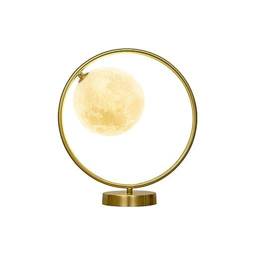 Lámpara de Mesa Moderna Creativa Moderna Luna de Cristal ...